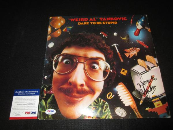 Weird Al Yankovic Signed Lp Vinyl Record Psa Dna Dare To