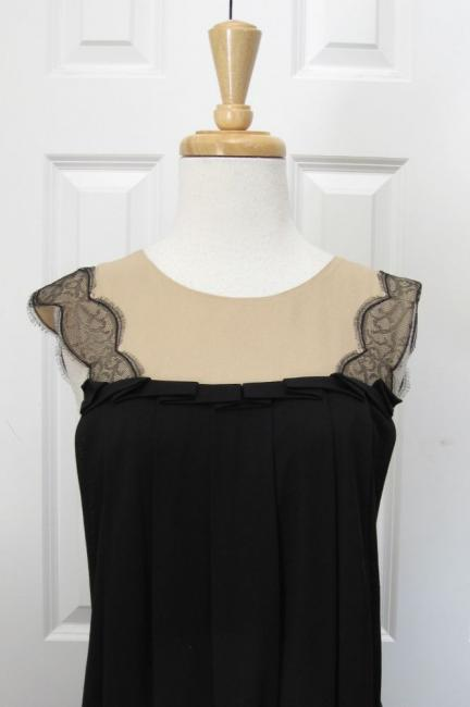 Stunning 3 1 Phillip Lim Black Lace Print Draped Dress Sz L