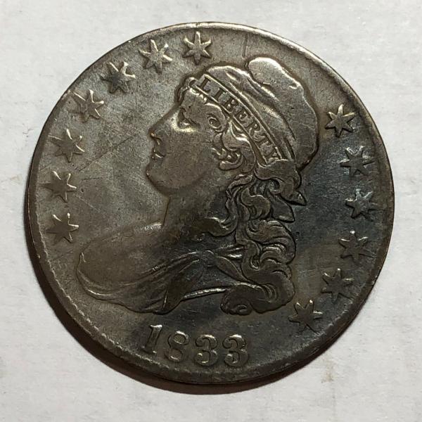 1813 Bust Silver Half Dollar VF Uncertified