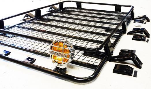 Large Van Steel Roof Rack Tray Top Black Coated 4x4