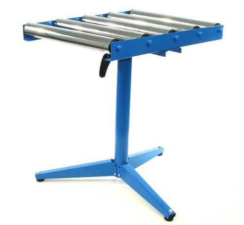 ADJUSTABLE 5 ROLLER STAND WOODWORKING METAL BENCH TOP SHEET ROLLER SIP ...