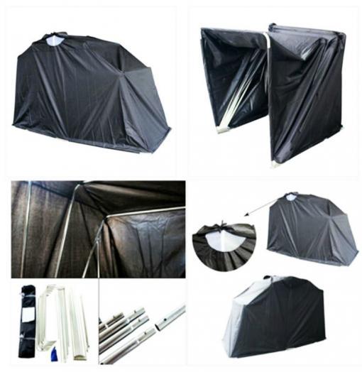 outside bike barn motorcycle storage driveway motorbike. Black Bedroom Furniture Sets. Home Design Ideas