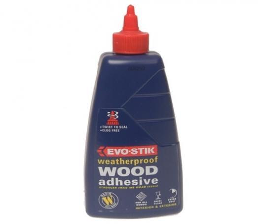 evo stik wood adhesive glue weatherproof strong quick dry bond big 500ml tb eve6 ebay. Black Bedroom Furniture Sets. Home Design Ideas