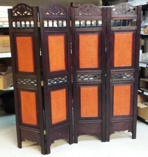 Panel victorian wooden screen room divider foldable