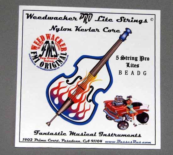 Weedwacker Pro Lite Bass Strings Nylon 5 String To High C