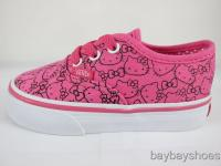 VANS AUTHENTIC HELLO KITTY PINK/WHITE TODDLER ALL SIZES