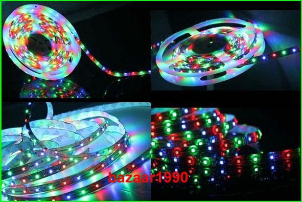 5M Dream Color 3528 RGB SMD Horse Race Lamp Led Strip + IR Remotes