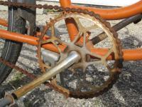 Womens Single Speed Cruiser bicycle rack orange balloon tire bike