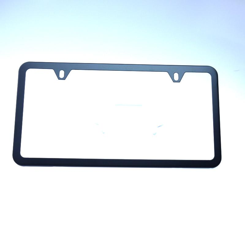 New 2 Hole Matte Black Slim License Plate Stainless Steel