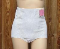 Vintage 70s Comfort Hours Brief White Lace Rubber Panty Girdle XXL