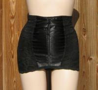Vintage 70s Subtract Black Lace Panty Girdle