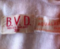 Early 30's BVD Label