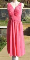 Vintage 50s Coral Pink Vanity Fair Grecian Romantic Nightgown Negligee