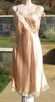 Vintage 40s Silk Rayon Colony Club Pink Champagne Full Slip