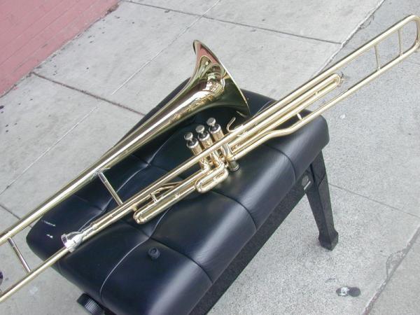 bonda tenor piston valve trombone bb gold brass. Black Bedroom Furniture Sets. Home Design Ideas