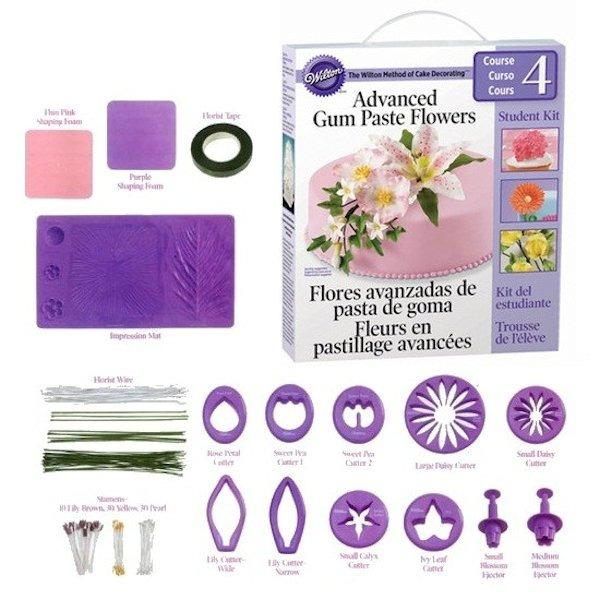 Flowers And Cake Design Student Kit Contents : Wilton Course 4 Advanced Gum Paste FLowers Student Kit ...