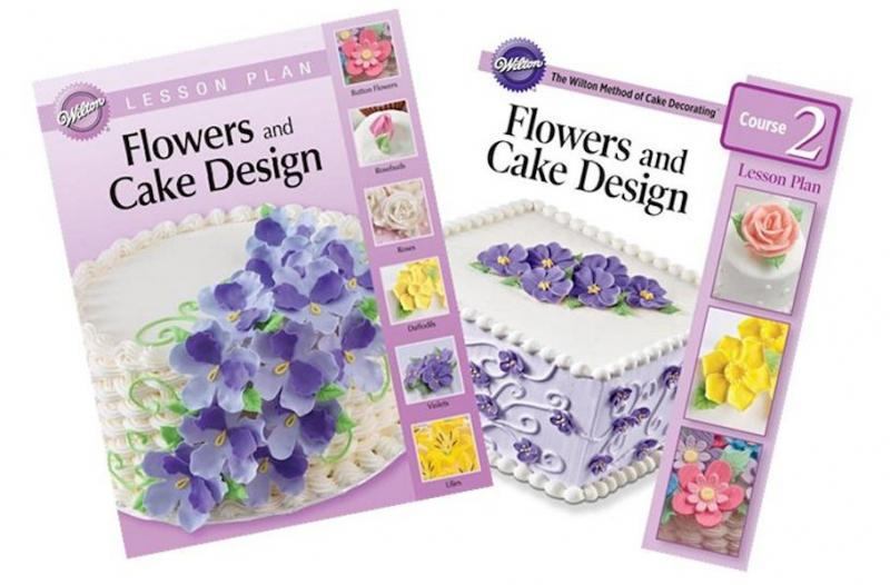 Cake Decorating Class Description : Wilton Lesson Plan Course 2 Flowers & Cake Design Book ...