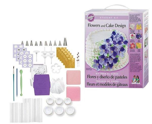 Cake Decorating Class Description : Wilton Course 2 Flowers & Cake Design Student Kit #113 New ...