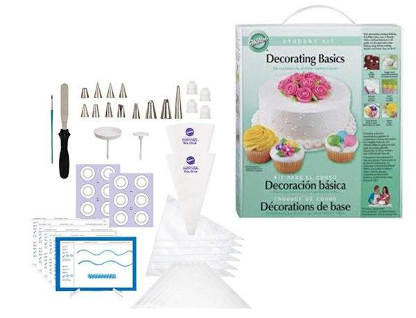 Cake Decorating Class Description : Wilton Course 1 Decorating Basics Student Kit #112 - NEW ...
