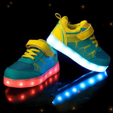 kinder led glow blinkschuhe aufladene licht schuhe kinderschuhe sneakers 7 farbe ebay. Black Bedroom Furniture Sets. Home Design Ideas