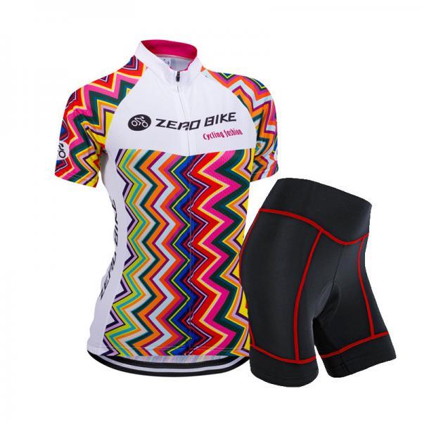fa050c185 Women Cycling Sports Wear Bike Team Jersey Short Sleeve Shorts Break ...