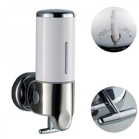 500ml lockable soap shampoo dispenser lotion pump action wall mounted bathroom ebay - Wall mounted shampoo and conditioner dispenser ...