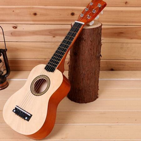 children 39 s ukulele wooden 21inch guitar 6 strings for kids musical toys g. Black Bedroom Furniture Sets. Home Design Ideas