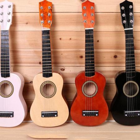 children 39 s ukulele wooden 21inch guitar 6 strings for kids musical toys gifts ebay. Black Bedroom Furniture Sets. Home Design Ideas