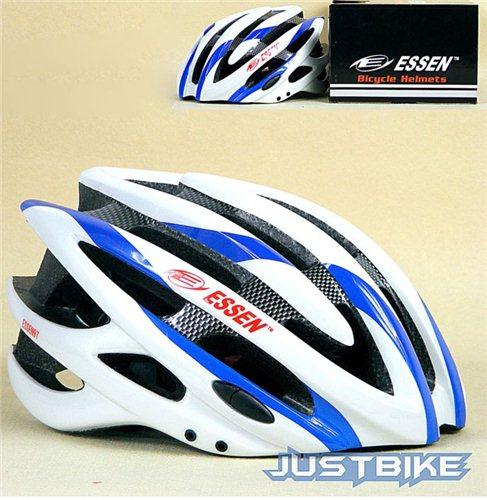 Cycling BICYCLE Carbon fiber BIKE HELMET FOR Essen Blue with Visor