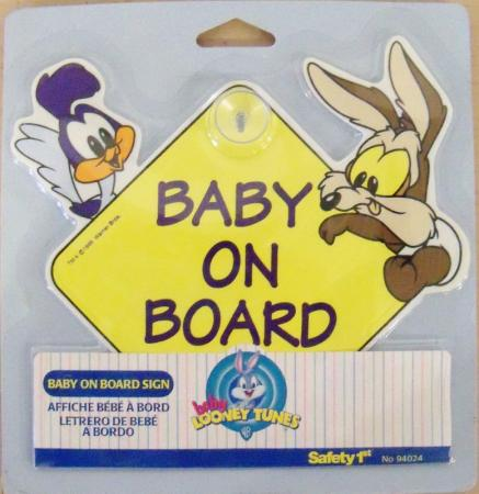 baby looney tunes toons road runner wile e coyote baby sign 175 ebay. Black Bedroom Furniture Sets. Home Design Ideas