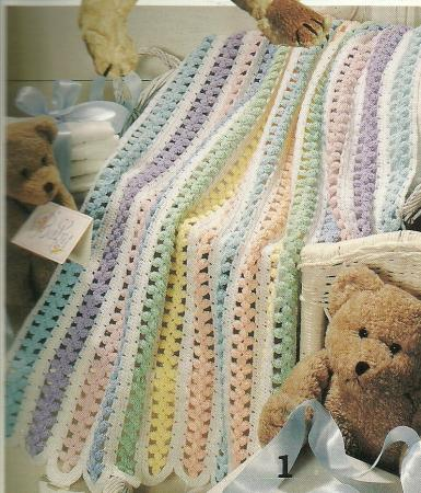 Free Teddy Bear Filet Crochet Afghan Pattern : Beary Sweet Baby Afghans Crochet Pattern Leaflet~Teddy ...