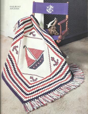 The Afghan Book Vintage Knit & Crochet Pattern Leaflet ...