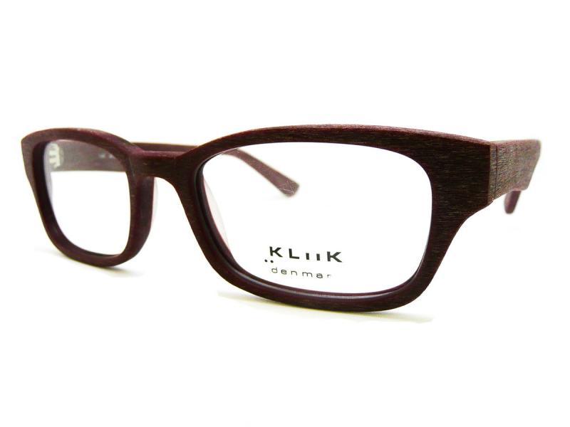 Kliik Denmark Eyeglass Frames : NEW AUTHENTIC KLIIK DENMARK MODEL 468 BROWN WOOD TEXTURED ...