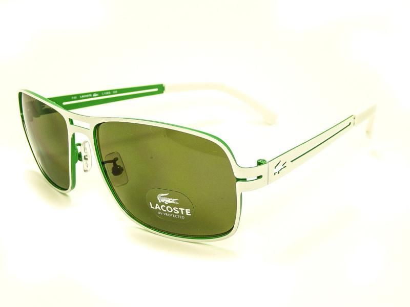 2e7a53272da New Lacoste L108S Sunglasses White Green 100 UV on PopScreen