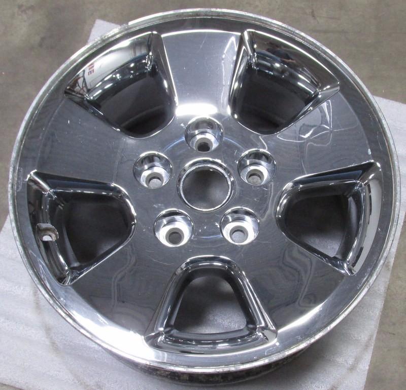 06 07 08 dodge ram 1500 17 chrome clad 5 spoke wheel factory oem rim used 2266 ebay. Black Bedroom Furniture Sets. Home Design Ideas