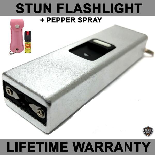 Powerful 10mv Usb Key Chain Self Defense Stun Led Pink Pepper