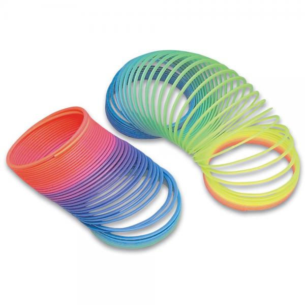... about 9 Rainbow Coil Spring Toys Plastic Magic Spring Slinky Toy