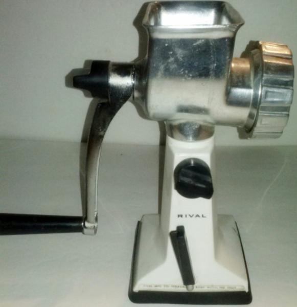 rival table top meat grinder vintage hand crank grind o