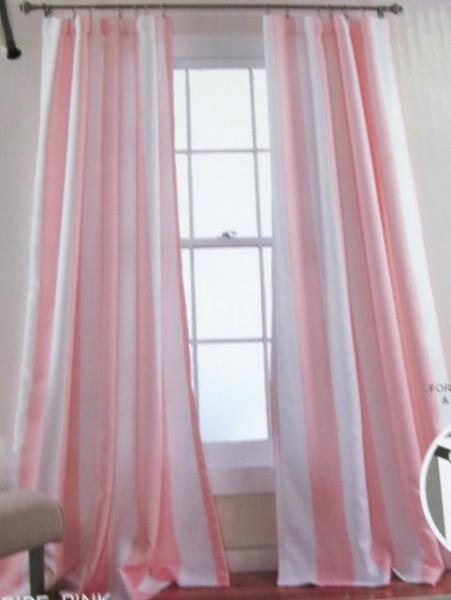 Nip Pair Shabby Pink Amp White Cabana Stripe Insulated Chic