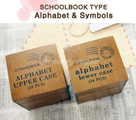 Lot Of 28pcs Vintage Wood Letter Alphabet Rubber Stamps