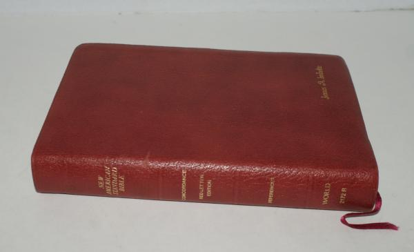 Nasb new american standard bible genuine leather ebay for New american standard bible red letter edition