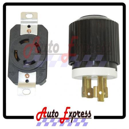 ac plug socket l14 30 30amp 120v 220v male female. Black Bedroom Furniture Sets. Home Design Ideas