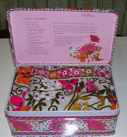 Vera Bradley Recipe Box Apron Tea Garden Nwt On Popscreen