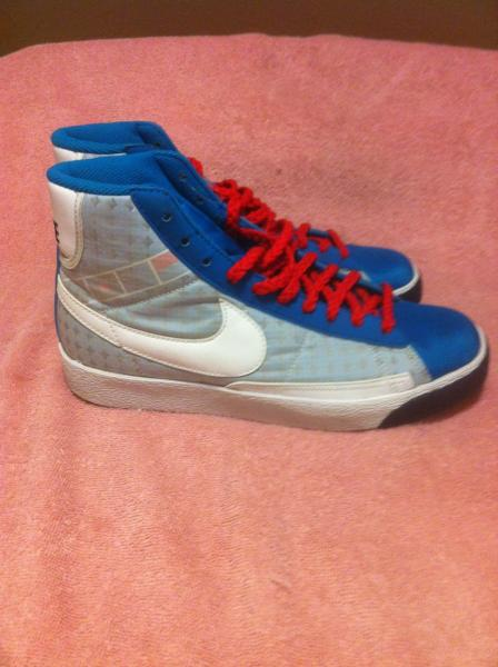 NIKE BLAZER HIGH NEO SHOES--317808-411--WOMENS SIZE 7.5---FREE SHIP---VGC