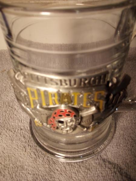 Pittsburgh Pirates Glass Beer Mug Pewter Handle Free Ship Vgc Ebay