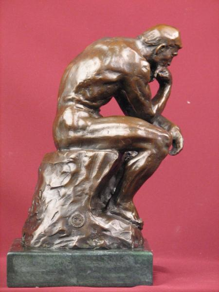 Reclining bronze male nude on marble base | Inventory