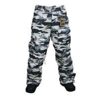 ELDO Herren Snowboardhose wasserdicht camouflage digital grau  S XL M L 2XL
