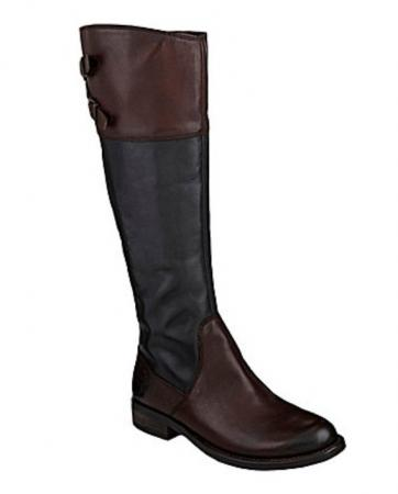 vince camuto keaton two tone black and brown leather