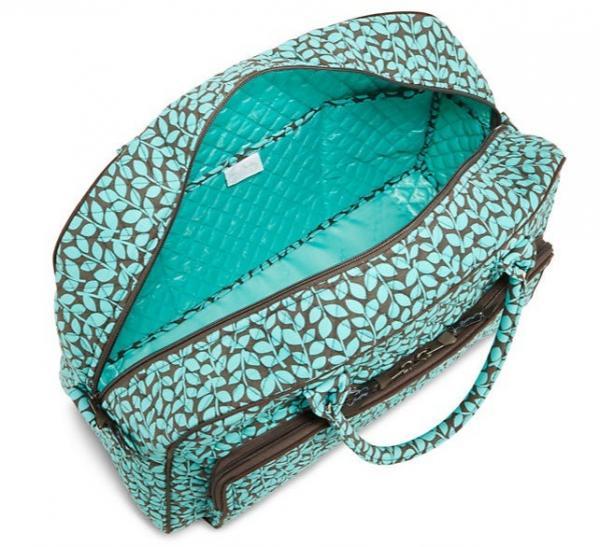 Vera bradley weekender travel bag shower vines new for Vera bradley bathroom bag