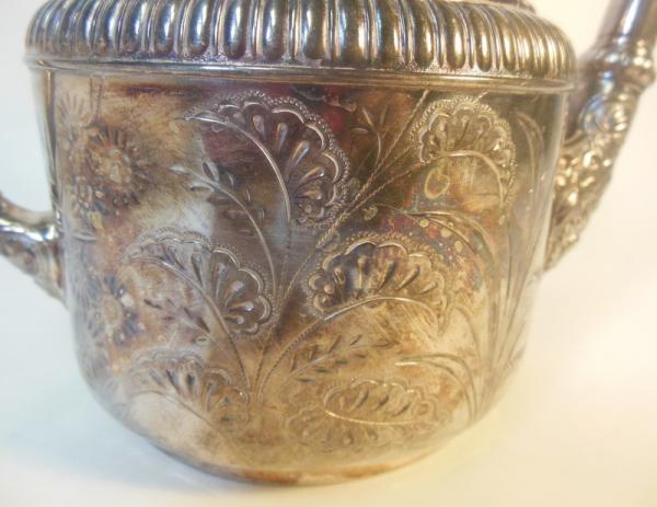 Antique Meriden Silver Plate Quadruple Plate Tea Coffee